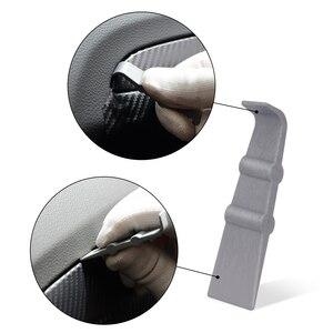 Image 5 - FOSHIO 자동차 용품 탄소 섬유 스크레이퍼 도구 키트 비닐 포장 자동차 자석 스틱 스퀴지 필름 스티커 커터 포장 도구