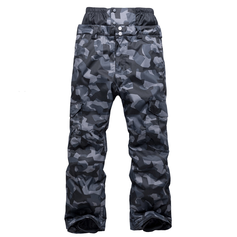 Snowboarding Pants Men's Wind-Resistant Waterproof Warm Thick Camouflage Ski Ku Support A Single