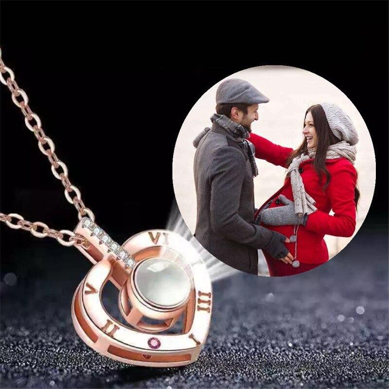 Colar com pingente foto personalizada, colar com encantos da projeção animal de estimação gargantilha colar de amante de casamento jóias presentes do dia dos namorados