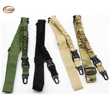Tactical Single One Point Airsoft Gun Sling Military Air Rifle Sling Strap Paintball Gun Strap Bungee Cord Hunting Accessories tactical hunting gun sling adjustable 1 single point bungee rifle sling strap system new 3 colors