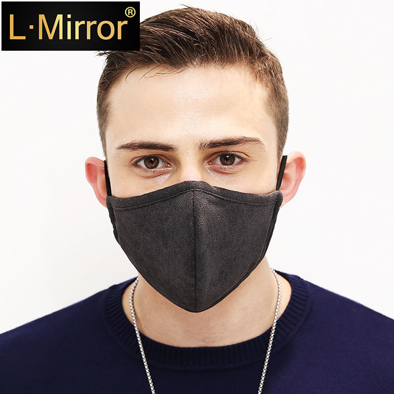 L.Mirror 1Pcs Dust Anti Pollution PM2.5 Activated Carbon Filter Insert Washed Reusable Pollen Mouth Mask