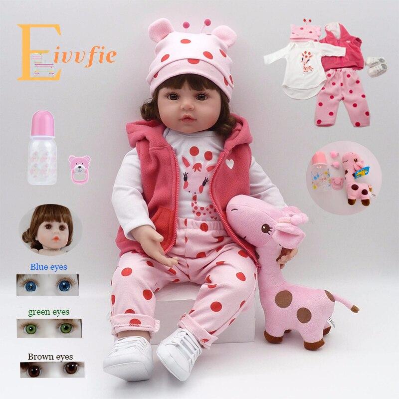 19 Inch Bebe Reborn Doll 48cm Soft Silicone Reborn Boncas Realistic Toy Boy Girl Christmas Birthday Gift Toy