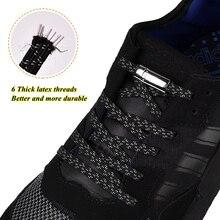 1 пара эластичный светоотражающие Магнитные шнурки без галстука шнурки быстрая блокировка взрослые дети шнурок веревка женщины кроссовки бег