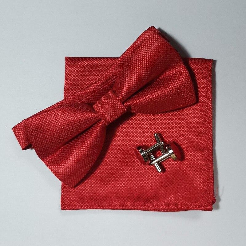 Fliege Set Taschentuch Manschettenknopf schwarz Fliege Kleid Hemd - Bekleidungszubehör - Foto 5