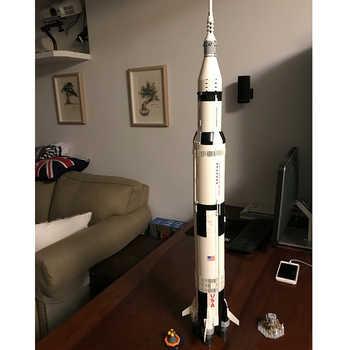 Lepinblock ideias, série apollo saturn v blocos de construção compatível lepining 21309 37003, brinquedos educativos para crianças 10231