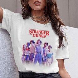 2020 странные вещи Женская забавная футболка ТВ 11 Дастин футболки майка футболка 80s Графический Женский Ulzzang футболка StrangerThings