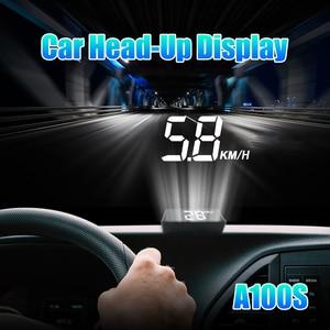 Image 5 - Проектор на лобовое стекло A100S, универсальная интеллектуальная система сигнализации с дисплеем, предупреПредупреждение о превышении скорости, OBD2