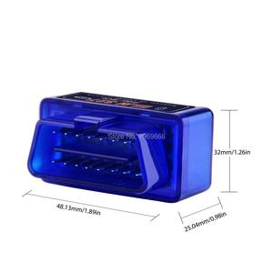 Image 4 - Super MINI ELM327 Bluetooth V1.5 ELM 327 wersja 1.5 z chipem PIC18F25K80 OBD2 OBDII dla androida Torque skaner kodów samochodowych