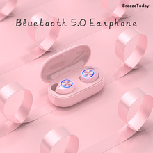 TWS Wireless Bluetooth 5.0 Earphone With Mic Mini Sports Earbuds Headphones Headset Stereo HIFI For Xiaomi iPhone Mobile Phone