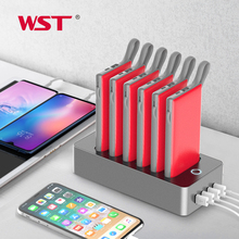 WST New Arrival Portable Power Bank Charger Station Multifunction 6PCS 10000mAh External