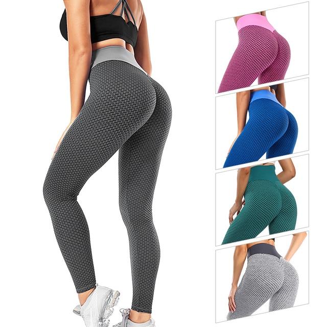 Women High Waist Leggings Through Thick Fitness Legging Butt Lift Seamless Legins Workout Gym Scrunch Booty Push Up Pants S-XL 1