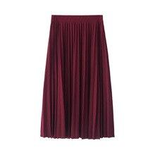 Length Elastic Skirt Promotions Lady Black Pink