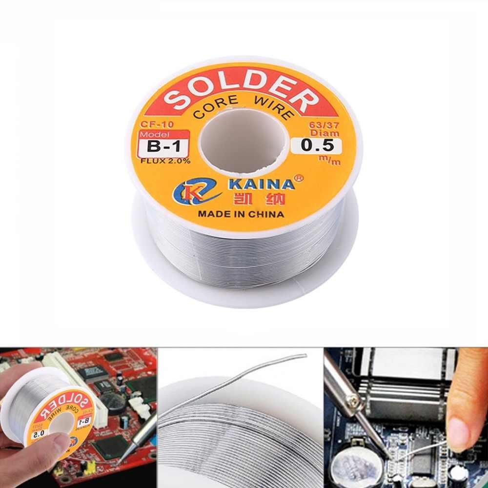 B-1 0.5 مللي متر 2.0% الجريان تين الرصاص الصنوبري لفة النواة الفضة اللحيم سلك لحام أداة إصلاح للحام بكرة الصناعية تذوب عدة