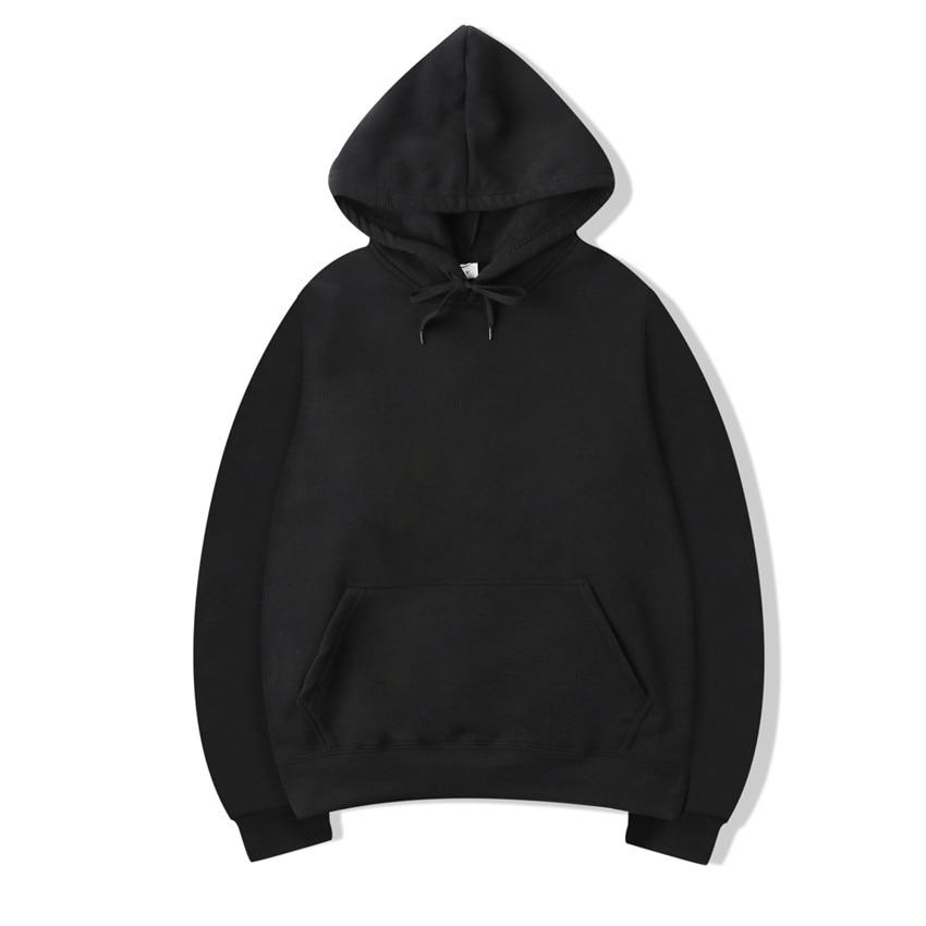 Solid Color Men Hoodies Black Sweatshirt Hoodie Casual Pullover Tops Unisex Oversize Hoodies Autumin Winter Sweatershirts Hoodie