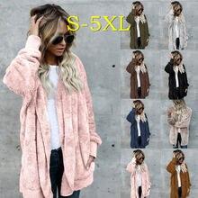Женское пальто из искусственного меха модная верхняя одежда