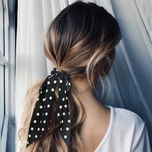 Женские резинки для волос в горошек аксессуары