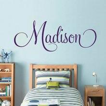 Детские настенные наклейки для девочек Имя Наклейка на стену