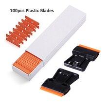 EHDIS escobilla de afeitar para coche, película de envoltura de limpieza, removedor de pegatinas con cuchillas de plástico, aplicador de vinilo de tinte de Ventanilla, 2 uds.
