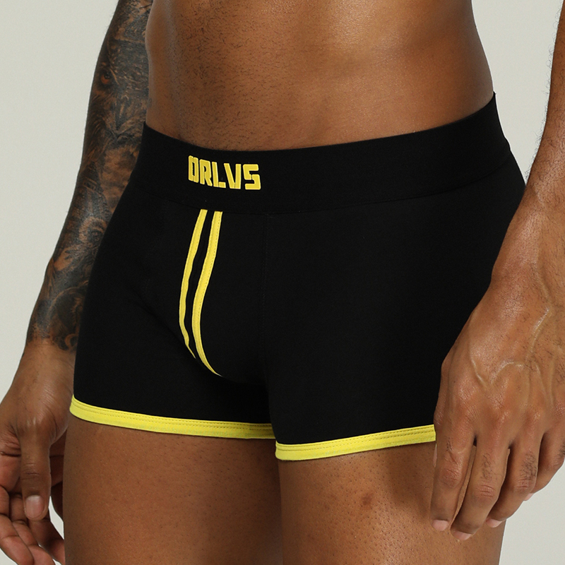 ORLVS Brand Male Underwear Men Boxers Para Hombre Men Underpants Boxer Shorts Ropa Interior Hombre Mesh Boxers Calzoncillo