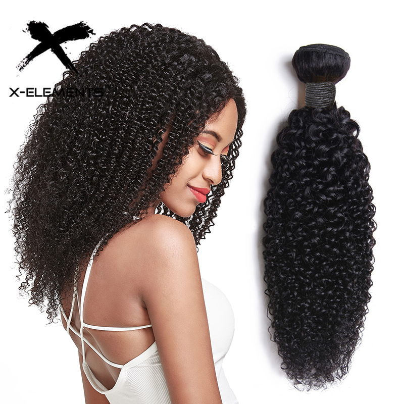 Kinky Curly Bundles 100% Human Hair Weaves Peruvian Curly Hair Extensions Non-Remy 8
