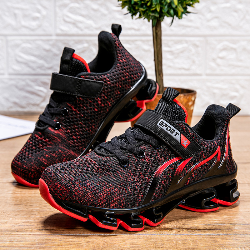 Big Children Shoes Boys Sneakers Kids Light Sport Shoes Breathable Mesh Running Shoes Basket Shoes Hollow Cushion Tenis Infantil
