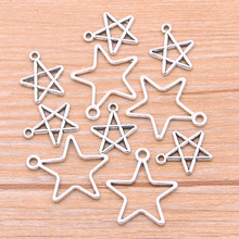 Star Charms Pendants Vintage Hollow Jewelry Making-Findings Handmade for DIY 2-Styles