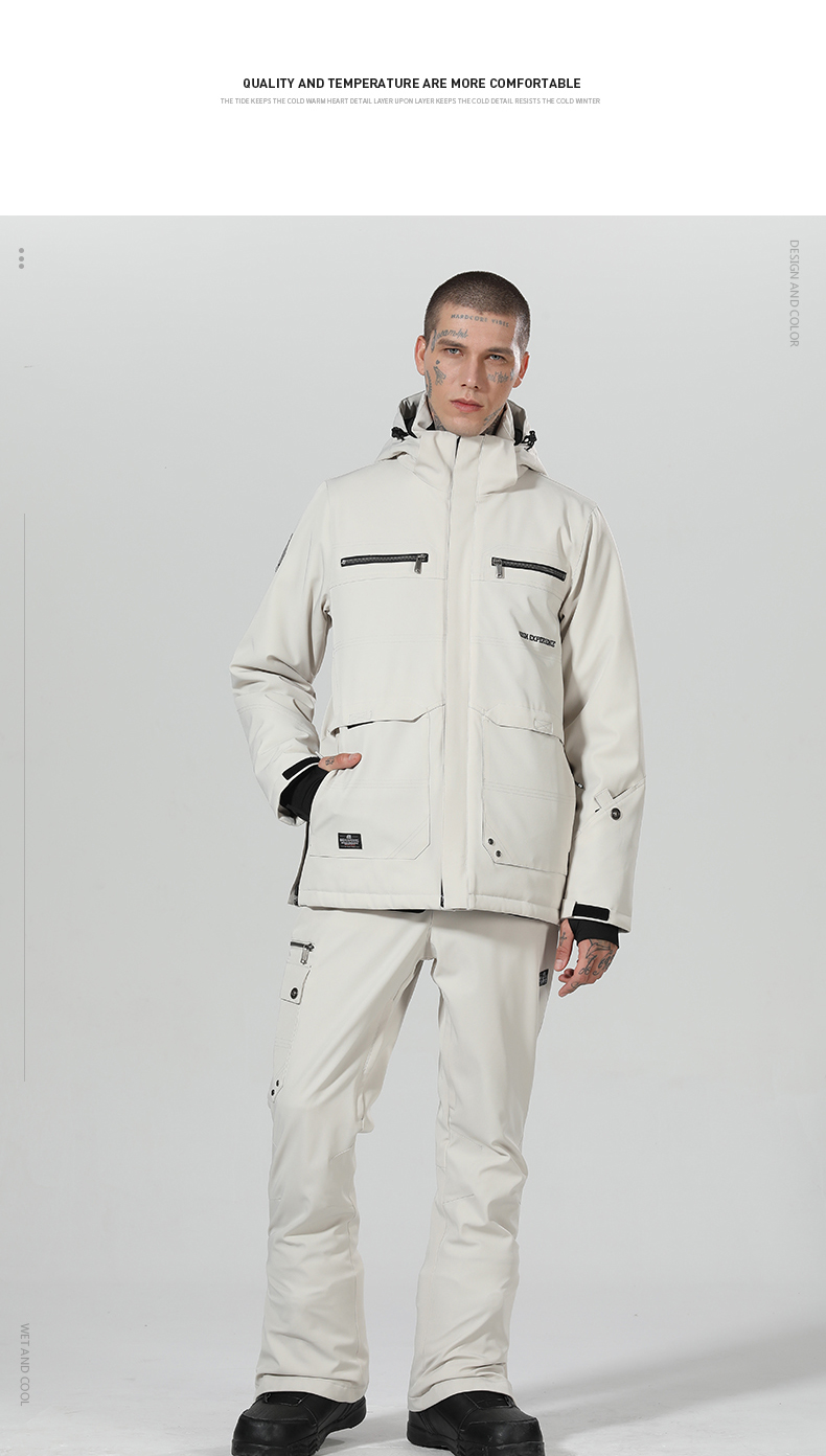 de snowboard dos homens terno de inverno