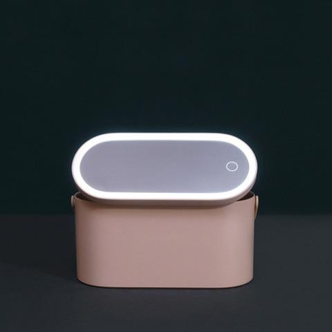 de desktop espelho maquiagem portatil caixa maquiagem com lampada