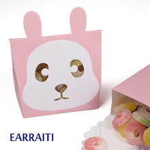 50 PCS Candy Gift Boxes Packaging Paper Gift Box Wedding Favors Gift Bags Small Paper Candy Bag Birthday Cartoon Kids Party Pink цена и фото