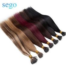 SEGO 16-24 дюйма 50 шт. 1 г/локон нано-кольцо волосы микро бусины наращивание волос не Реми 100% человеческие волосы предварительно скрепленные прям...