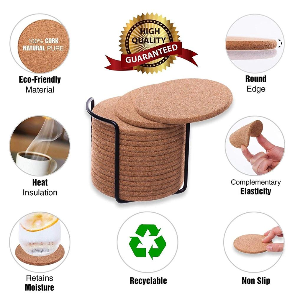 Round Coaster Placemat Drink-Pad Wooden-Slice-Cup Coffee-Mug Kitchen-Decoration Heat-Resistant