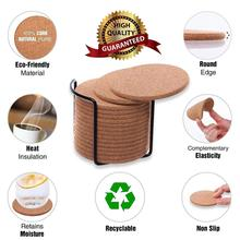 6 10 20PCS Wooden Slice Cup Mat Natural Round Coaster placemat Heat-resistant Tea Coffee Mug Drink Pad For Kitchen Decoration cheap CN(Origin) Mats Pads Eco-Friendly Modern Cork As the picture shown 90*3mm