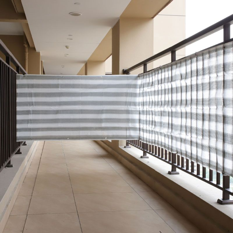 5m Heat Resistant Balcony Privacy Screen Fence Shade Cover Anti-UV Wind Protect Gray White