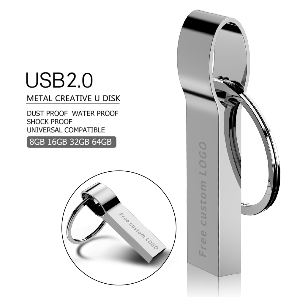 USB flash drive 128GB 64GB 32GB flash memory stick 8GB 4GB pen drive 16GB Metal cle usb pendrive 2.0 flash disk Free custom LOGO (9)