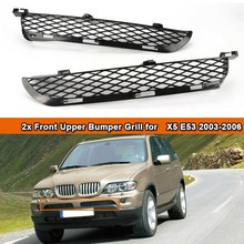 For-BMW X5 E53 2003-2006 Facelift Front Grille Upper Bumper Mesh Grill(China)