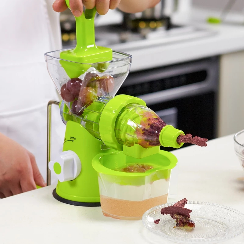 Manual juicer,small Machine Food processor, juicer,residue Juice separation, Various Vegetable juice,squeeze screw,and Versatile