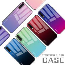 Gradient Tempered Glass Case Protective Case For Huawei P10 20 30 Pro L