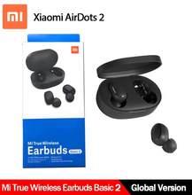 Versão global xiaomi redmi airdots 2 tws sem fio bluetooth 5.0 fone de ouvido sem fio 2