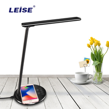 Leise qi 무선 충전기 led 램프 전원 은행 아이폰 xs 최대 x 접이식 빠른 충전 패드 삼성 화웨이 xiaomi