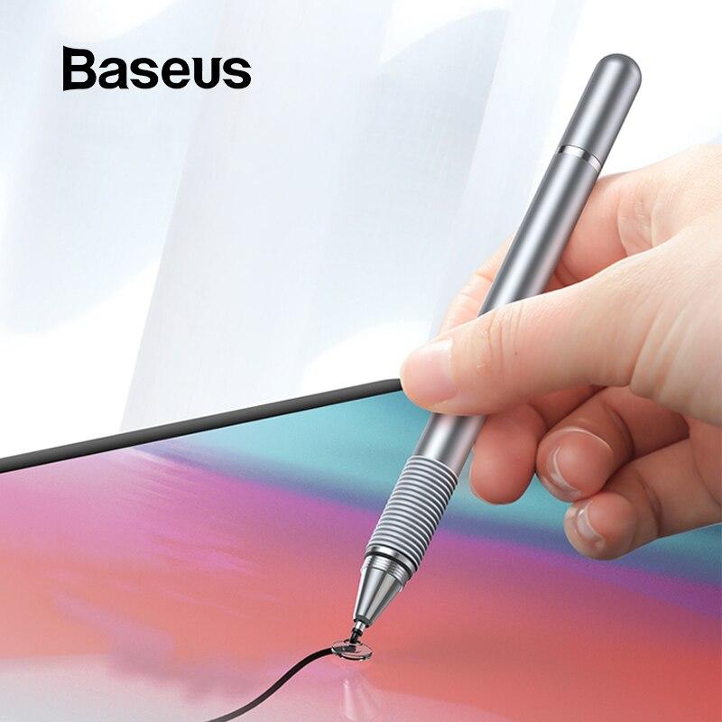 Baseus Universal Stylus Pen multifunción pantalla táctil pluma táctil capacitiva para iPad iPhone Samsung Xiaomi Huawei Tablet Pen