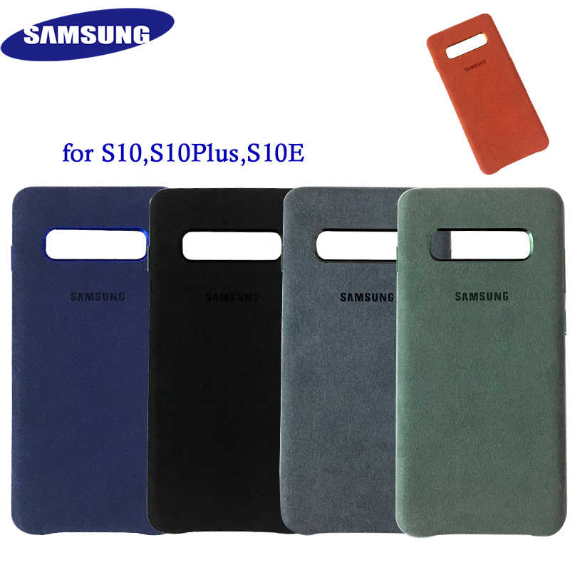 100% Original Samsung Galaxy S10 Plus S10+ S10E for Alcantara Case cover leather luxury premium Case Anti-Fall EF-XG975 EF-XG973