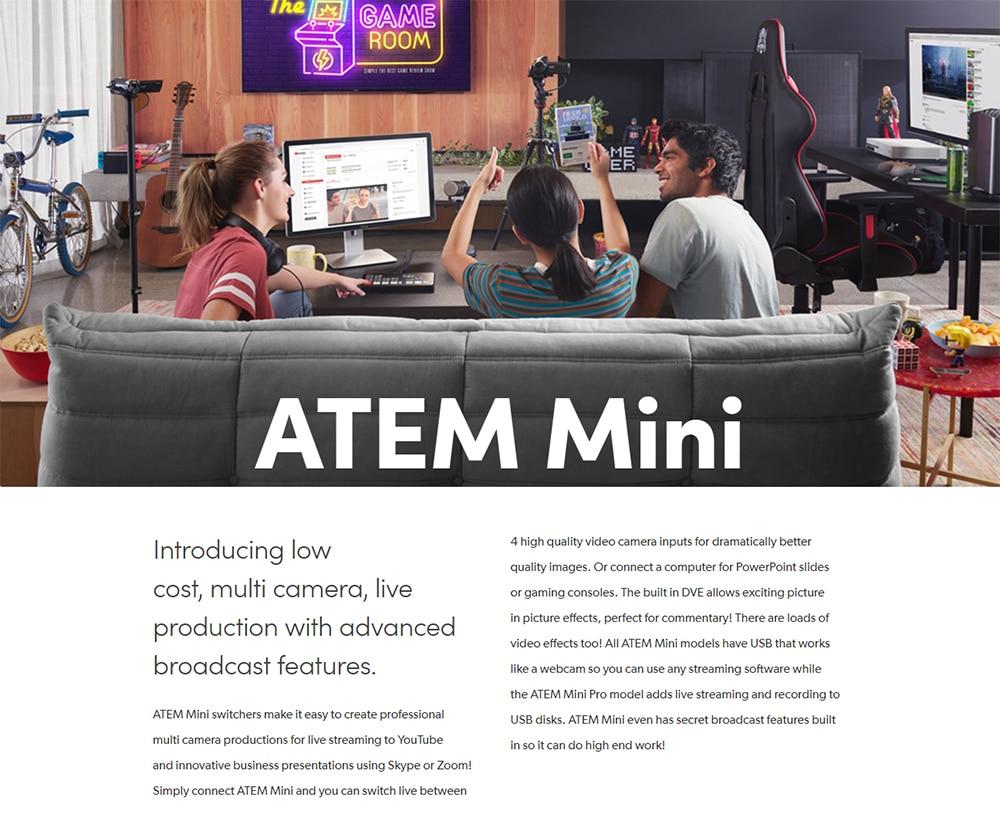 New Original Blackmagic Atem Mini Switcher Hdmi Multi View Live Stream Video Us Ebay