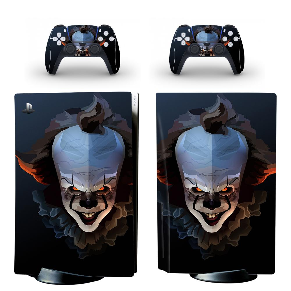 Pennywise PS5 Standard Disc Edition Skin Sticker Decal Cover for PlayStation 5 Console & Controller PS5 Skin Sticker Vinyl 1