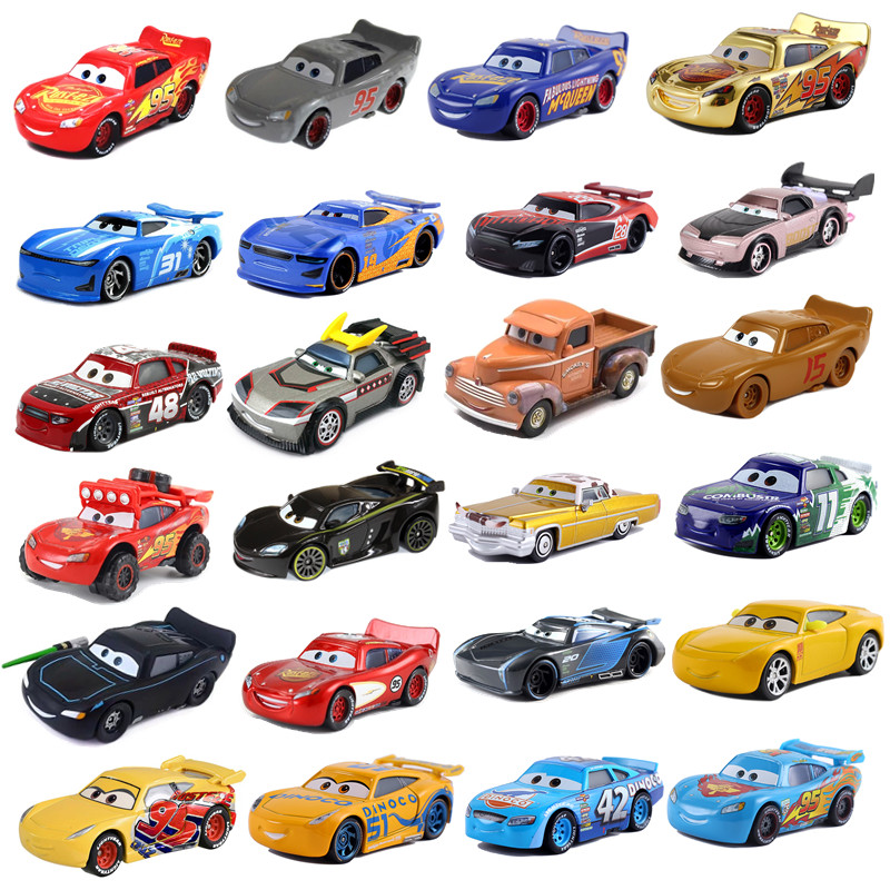 New Disney Pixar 2 3 Toy Car McQueen Jackson Storm 1:55 Cast Metal Alloy Toy Car Model Children's Birthday Christmas Gift