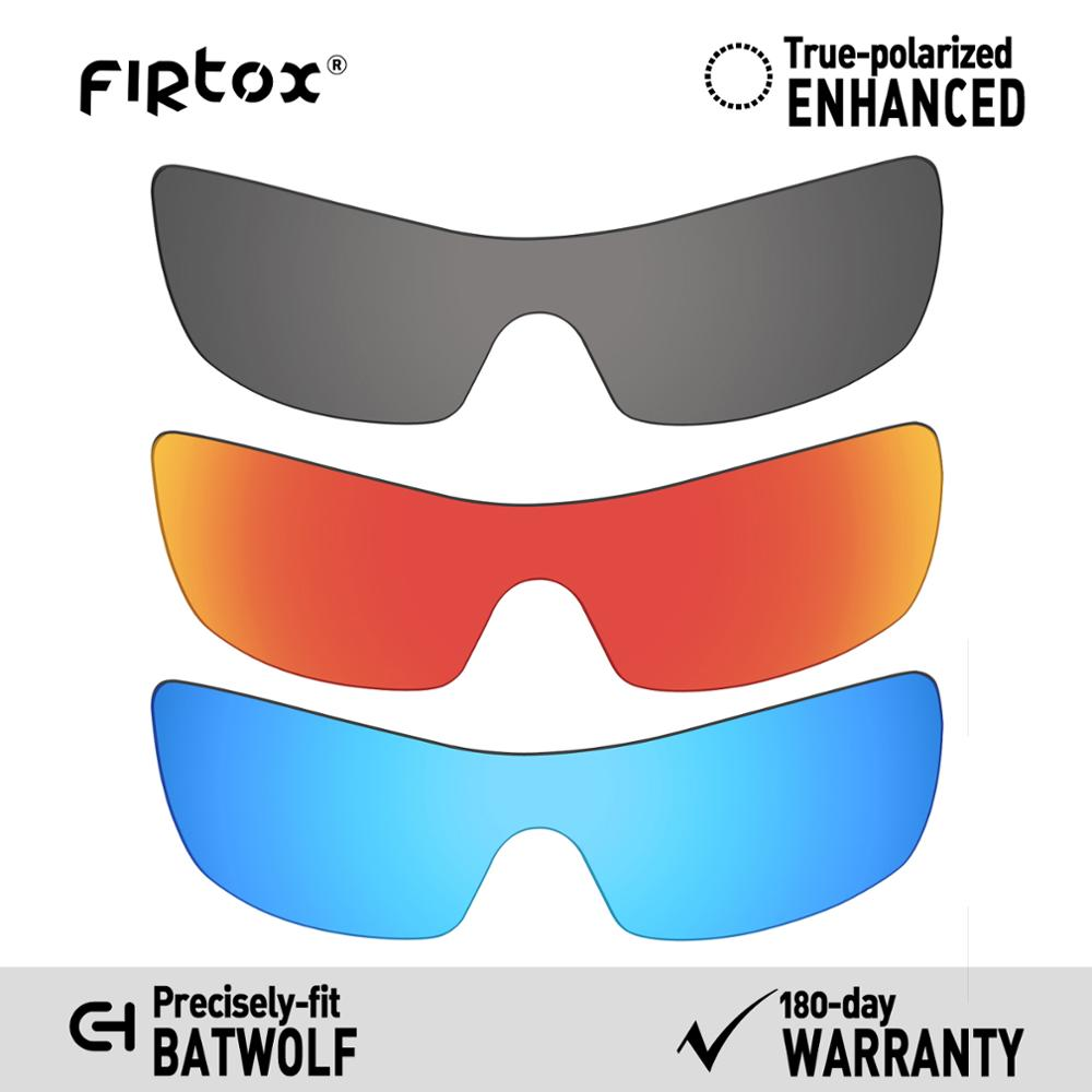 Firtox True UV400 Polarized Lenses Replacement For-Oakley Batwolf OO9101 Sunglasses (Compatiable Lens Only) - Black+Red+Blue
