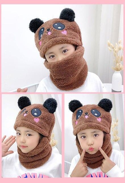 Фото дети для маленьких мальчиков и девочек зимний теплый плюш шапки