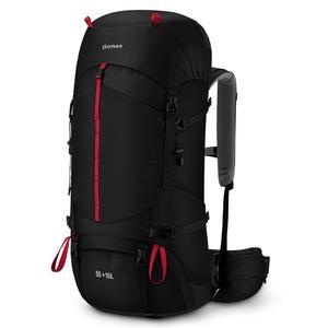 Image 1 - Рюкзак Gonex 55/65L для альпинизма, сверхпрочный уличный походный рюкзак, водонепроницаемый рюкзак, походный дождевик в комплекте