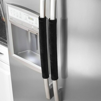 Drzwi lodówki osłona klamki urządzenie kuchenne Decor uchwyty przeciwpoślizgowe rękawice ochronne do lodówki piekarnik trzymaj odciski palców tanie i dobre opinie Refrigerator Door Handle Mieszanie Cloth 40(L)x12(W)cm Refrigerator Door Handle Covers Refrigerator Handle Cover 1 Pair Refrigerator Handle Cover
