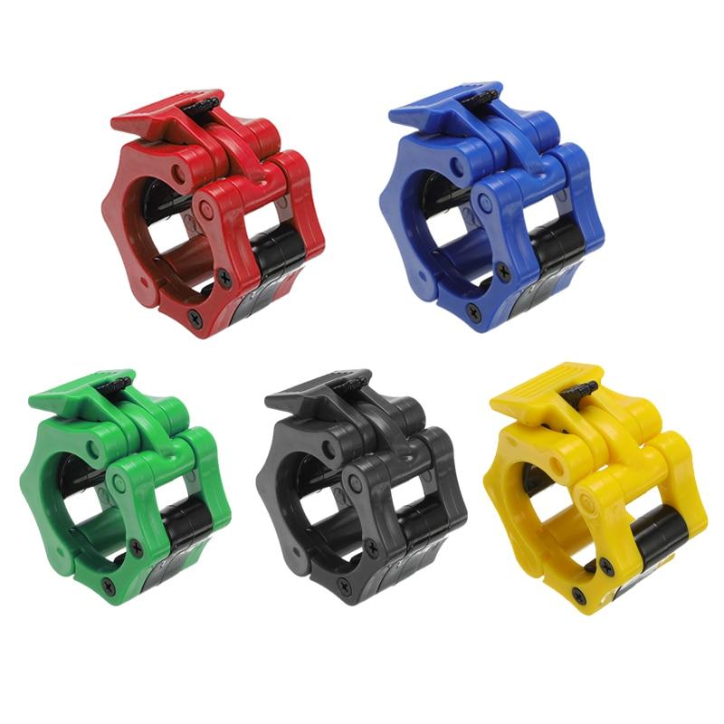 50 мм ошейники Spinlock зажимы для штанги зажим для подъема веса штанга ошейники для спортзала гантели для фитнеса Бодибилдинг 5 цветов