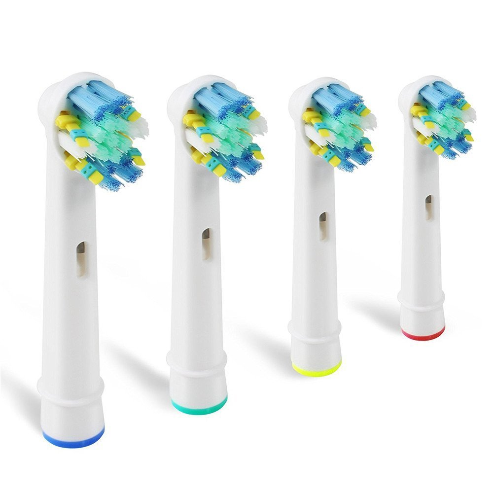 4Pcs Replacement Brush Heads for Oral B Electric Toothbrush before power/Pro health/Triumph/3D Excel/clean precision vitality